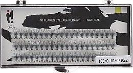 Düfte, Parfümerie und Kosmetik Wimpernbüschel D, C 10mm - Ibra 10 Flares Eyelash Natural