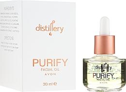 Düfte, Parfümerie und Kosmetik Regenerierendes Gesichtsöl mit Jojobaöl, Vitamin E, Phytol und Moltebeerenextrakt - Avon Distillery Purify Facical Oil