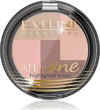 Highlighter & Gesichtsrouge - Eveline Cosmetics All In One Highlighter Blush — Bild N1