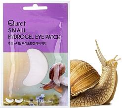 Düfte, Parfümerie und Kosmetik Hydrogel-Augenpatches mit Schneckenextrakt - Quret Snail Hydrogel Eye Patch