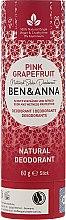 Düfte, Parfümerie und Kosmetik Natürlicher Soda Deostick Pink Grapefruit - Ben & Anna Natural Soda Deodorant Paper Tube Pink Grapefruit