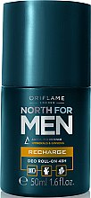 Düfte, Parfümerie und Kosmetik Deo Roll-on Antitranspirant - Oriflame Norht For Men Recharge Deo Roll-On 48H