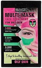 Düfte, Parfümerie und Kosmetik Mehrzweck-Gesichtsmaske für fettige Haut - Beauty Formulas 3-Step Multi Mask Face Treatment Oily Skin