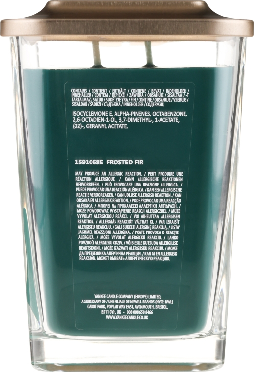 Duftkerze im Glas Frosted Fir - Yankee Candle Frosted Fir Elevation Square Candles — Bild N2