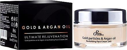 Revitalisierende Gesichtscreme mit Goldparikeln und Arganöl - Hristina Cosmetics Sayaz Gold Particles And Argan Oil Revitalizing Face Cream 24H — Bild N1