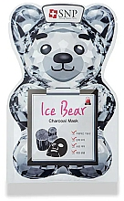 Düfte, Parfümerie und Kosmetik Anti-Falten Tuchmaske für das Gesicht mit Aktivkohle - SNP Ice Bear Charcoal Mask