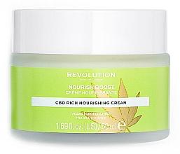 Düfte, Parfümerie und Kosmetik Reichhaltige, nährende und feuchtigkeitsspendende Gesichtscreme mit Hanföl und Cannabidiol - Revolution Skincare CBD Nourish Boost Cream