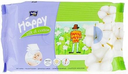 """Feuchttücher """"Seide und Baumwolle"""" - Bella Baby Happy Silk & Cotton — Bild N1"""