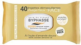 Düfte, Parfümerie und Kosmetik Make-up-Entfernungstücher 40 St. - Byphasse Make-up Remover Sweet Almond Oil Wipes