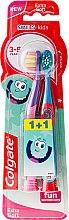 Düfte, Parfümerie und Kosmetik Kinderzahnbürste 3-5 Jahre extra weich Smiles blau, lila 2 St. - Colgate Smiles Kids Extra Soft