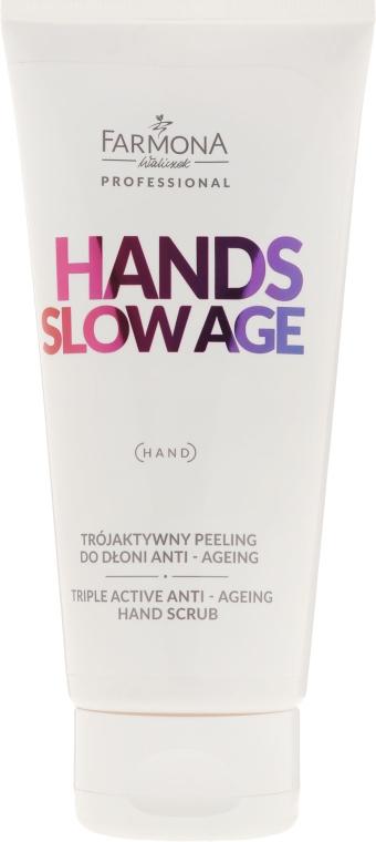 Anti-Aging Handpeeling - Farmona Professional Hands Slow Age Triple Active Anti-Ageing Hand Scrub — Bild N1