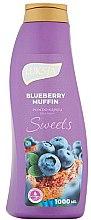 Düfte, Parfümerie und Kosmetik Badeschaum Blaubeermuffin - Luksja Sweets Blueberry Muffin Bath Foam
