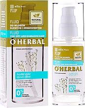 Düfte, Parfümerie und Kosmetik Haarfluid für trockenes und strapaziertes Haar mit Flachsextrakt - O'Herbal