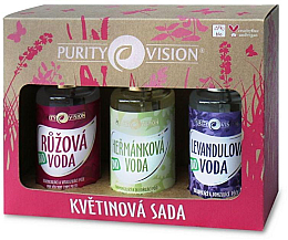 Düfte, Parfümerie und Kosmetik Gesichtspflegeset - Purity Vision Bio (Rosenwasser 100ml + Kamillenwasser 100ml + Lavendelwasser 100ml)