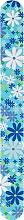 Düfte, Parfümerie und Kosmetik Nagelfeile 2056 17,8 cm blau mit Blumen - Donegal