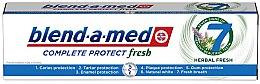 Düfte, Parfümerie und Kosmetik Zahnpasta Complete Protect Fresh 7 Herbal Fresh - Blend-a-Med Complete Protect Fresh 7 Herbal Fresh Toothpaste