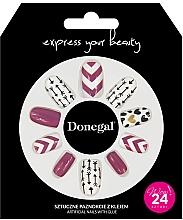 Düfte, Parfümerie und Kosmetik Set Künstliche Nägel mit Kleber 3057 - Donegal Express Your Beauty