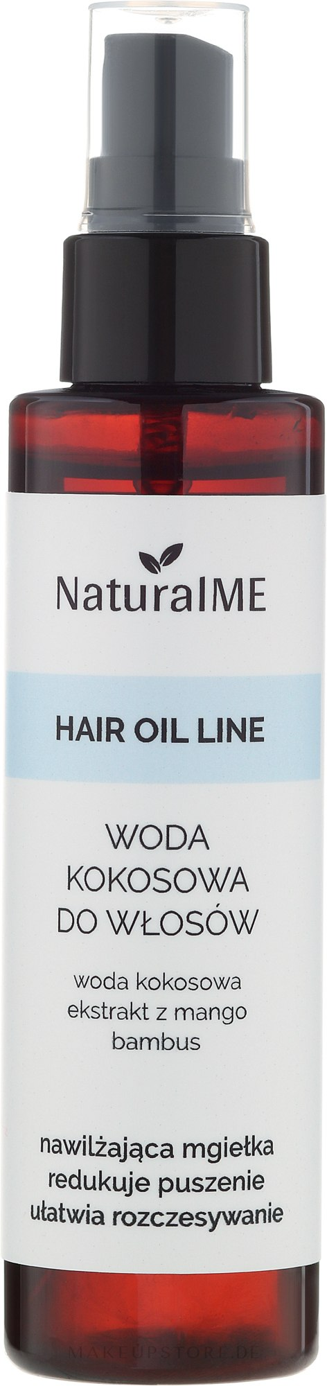 Kokoswasser für das Haar - NaturalME Hair Oil Line — Bild 75 ml