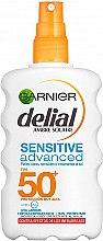 Düfte, Parfümerie und Kosmetik Sonnenschutzspray für empfindliche Haut SPF 50 - Garnier Delial Ambre Solaire Advanced Sensitive Sunscreen Spray SPF50