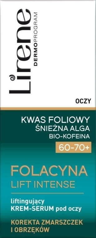 Anti-Falten Augencreme - Lirene Folacyna Lift Intense Cream 60/70+ — Bild N1