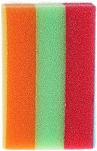 Düfte, Parfümerie und Kosmetik Badeschwamm rechteckig Regenbogen 2 - Cari