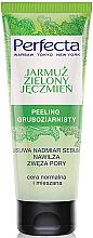 Düfte, Parfümerie und Kosmetik Grobkorn-Gesichtspeeling mit Gemüsekohl und grüner Gerste - Perfecta