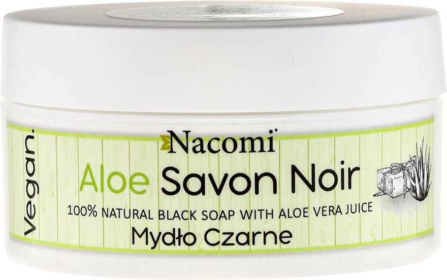Natürliche schwarze Seife mit Aloe Vera - Nacomi Savon Noir Natural Black Soap with Aloe Vera Juice — Bild N1