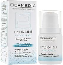 Düfte, Parfümerie und Kosmetik Tägliche feuchtigkeitsspendende Anti-Falten-Creme - Dermedic Hydrain 3 Hialuro Anti Winkle Day Cream