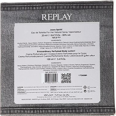 Replay Jeans Spirit! For Her - Duftset (Eau de Toilette 20ml + Körperlotion 100ml) — Bild N2