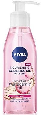 Nährendes Reinigungsöl für Gesicht und Augen mit Macadamiaöl - Nivea Nourishing Cleansing Oil Macadamia — Bild N1