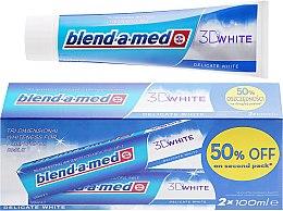 Düfte, Parfümerie und Kosmetik Zahnpasta 3D White Delicate White 2 St. - Blend-a-med 3D White Delicate White Toothpaste (Zahnpasta 2x100ml)