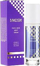 Düfte, Parfümerie und Kosmetik Nachtcreme für Gesicht und Hals mit Vitamin C, Arganöl und Kollagen - BingoSpa Face&Neck Night Cream