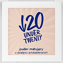 Düfte, Parfümerie und Kosmetik Mattierender und antibakterieller Gesichtspuder - Under Twenty Powder