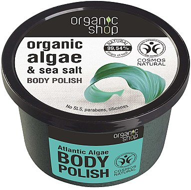 Körperpeeling mit Bio Algenextrakt und Meersalz - Organic Shop Body Scrub Organic Algae & Sea Salt — Bild N1