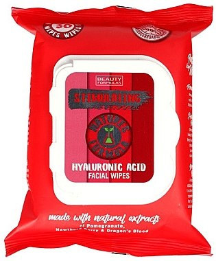 Gesichtsreinigungstücher mit Hyaluronsäure 30 St. - Beauty Formulas Natures Formula Stimulating Facial Wipes with Hyaluronic Acid — Bild N1