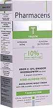 Düfte, Parfümerie und Kosmetik Nachtcreme-Peeling mit 10% Mandelsäure - Pharmaceris T Sebo-Almond-Peel Exfoliting Night Cream