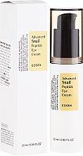 Düfte, Parfümerie und Kosmetik Augencreme mit Peptiden und Schneckenextrakt - Cosrx Advanced Snail Peptide Eye Cream