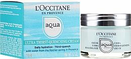 Düfte, Parfümerie und Kosmetik Intesiv feuchtigkeitsspendende Gesichtscreme mit Quellenwasser und Hyaluronsäure - L'Occitane Aqua Reotier Acial Ultra Hidratante