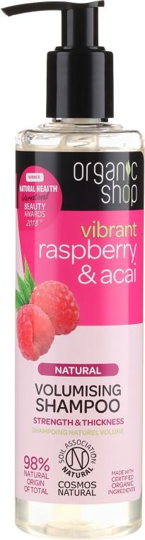 Volumen Shampoo mit Bio Himbeere und Acai - Organic Shop Raspberry & Acai Volumising Shampoo