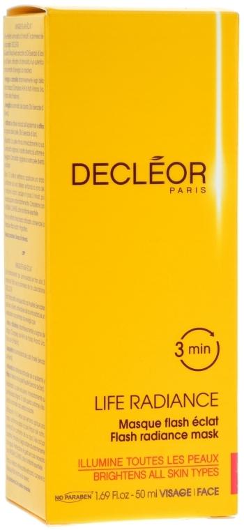Gesichtsmaske mit ätherischen Ölen und Fruchtsäurekomplex - Decleor Life Radiance Flash Mask — Bild N1