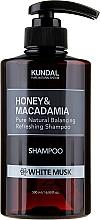 Feuchtigkeitsspendendes Shampoo mit weißem Moschus - Kundal Honey & Macadamia Shampoo White Musk — Bild N3