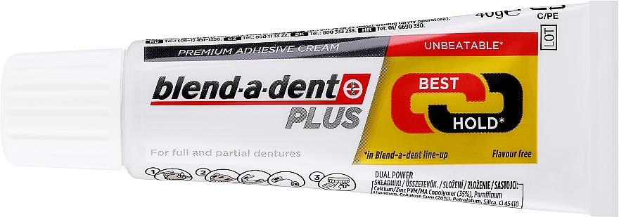 Haftcreme für Voll- und Teilprothesen - Blend-A-Dent Premium Adhesive Cream Plus Dual Power Light Mint — Bild N2