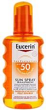 Düfte, Parfümerie und Kosmetik Sonnenschutzspray für den Körper SPF 50 - Eucerin Sun Spray Transparent SPF 50