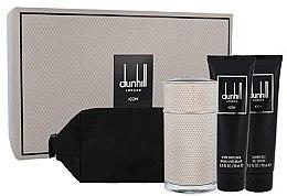Düfte, Parfümerie und Kosmetik Alfred Dunhill Icon - Duftset (Eau de Toilette 100ml + Duschgel 90ml + After Shave Balsam 90ml +Kosmetiktache)