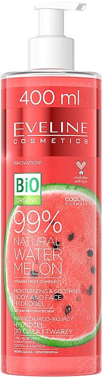 Hydrogel für Gesicht und Körper mit 99% Wassermelone - Eveline Cosmetics 99% Natural Watermelon