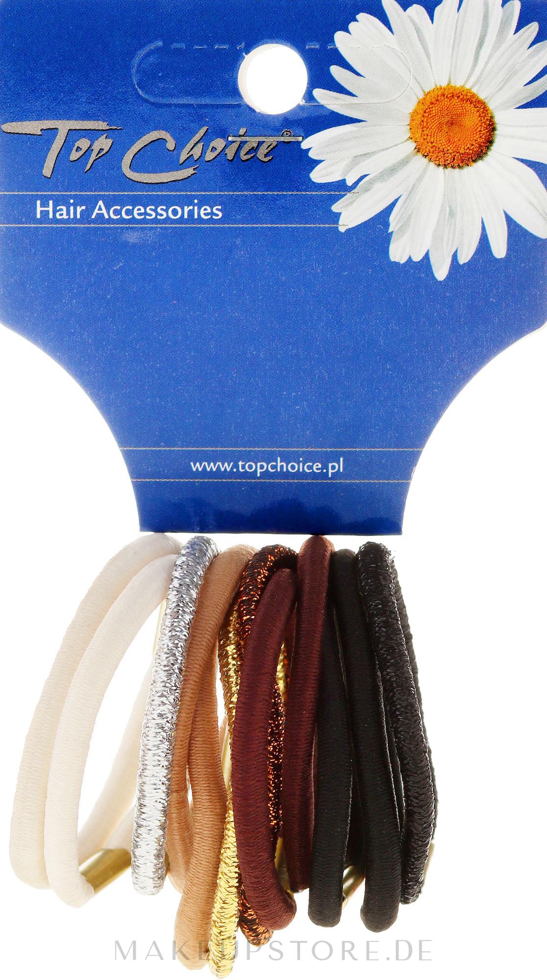 Haargummis 12 St. Farbenmix - Top Choice — Bild 12 St.