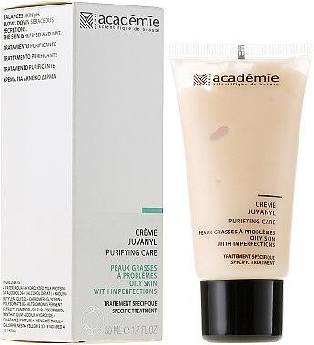 Verfeinernde und mattierende Gesichtscreme zur Regulierung der Talgproduktion - Academie Juvanyl Cream Purifying Care — Bild N1