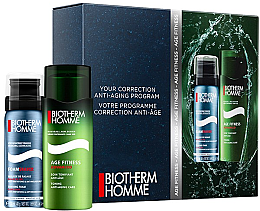 Düfte, Parfümerie und Kosmetik Set - Biotherm Homme Age Fitnes Advanced (shave/foam/50ml + af/shave/cr/50ml)