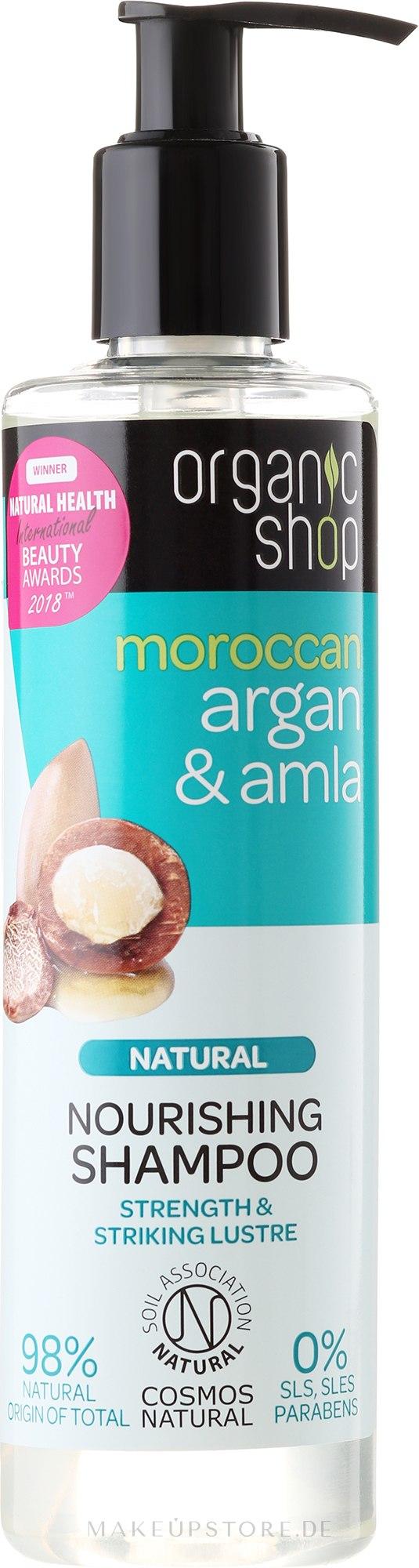 Nährendes Shampoo mit Arganöl & Amla - Organic Shop Argan & Amla Nourishing Shampoo — Bild 280 ml