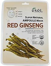 Düfte, Parfümerie und Kosmetik Tuchmaske für das Gesicht mit rotem Ginseng-Extrakt - Ekel Super Natural Ampoule Mask Red Ginseng